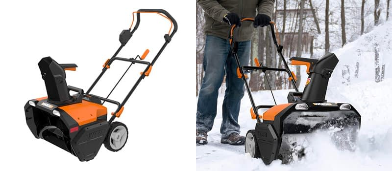 Great For Kids- WORX 20 Inch Cordless Snow Thrower W: Battery & Charger