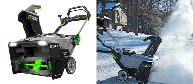 Best Cordless Snow Blower Overall- EGO 21 Inch 56 Volt Battery Powered