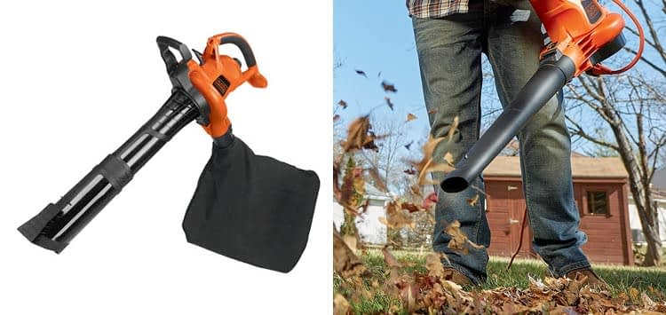 BLACK+DECKER 3-in-1 Electric Leaf Blower and Mulcher with Leaf Vacuum Kit